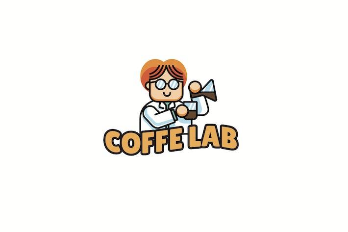 Coffee Lab - Mascot Logo