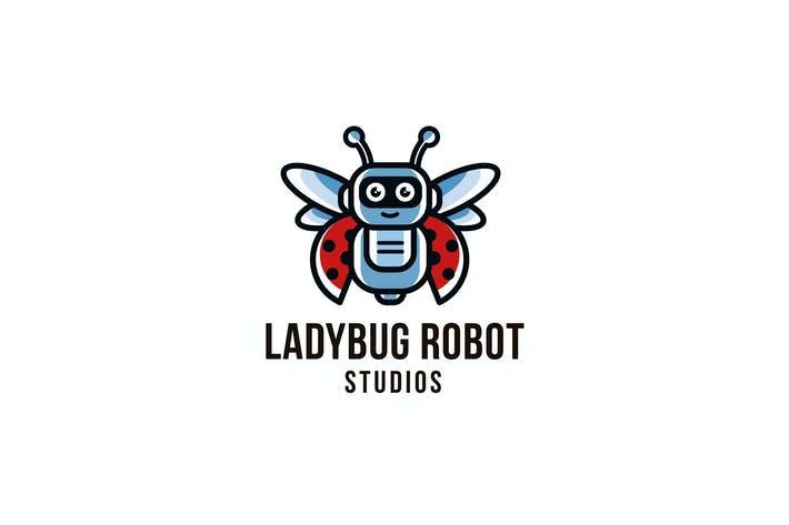 Thumbnail for Ladybug Robot Studios Logo Template