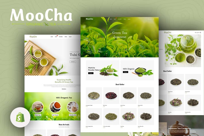 Thumbnail for Moocha - Tea Shop & Organic Store Shopify Theme