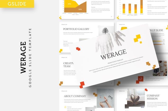 Cover Image For Werage - Google Slide Template