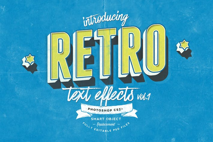 Thumbnail for Retro Text Effects vol.1