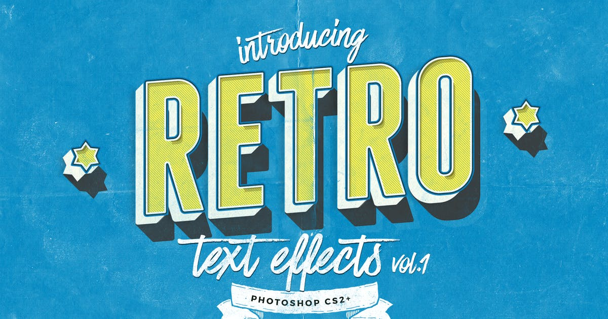 Retro Text Effects vol.1 by ivanrosenberg