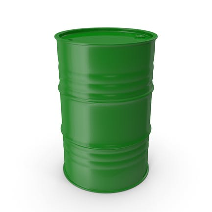 Barril de metal verde limpio