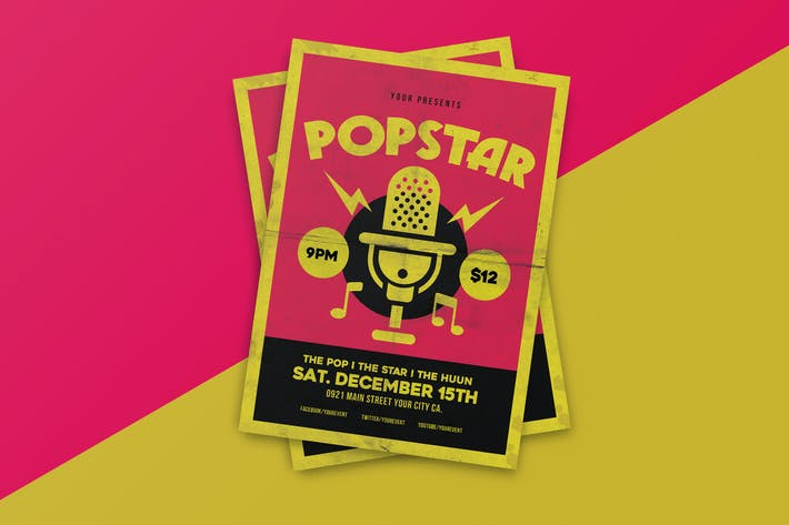 Thumbnail for Popstar music flyer