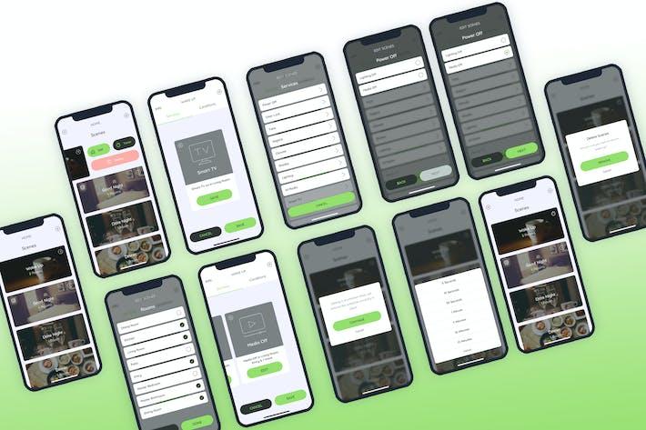 Thumbnail for Scenes Smarthome Mobile UI - FP