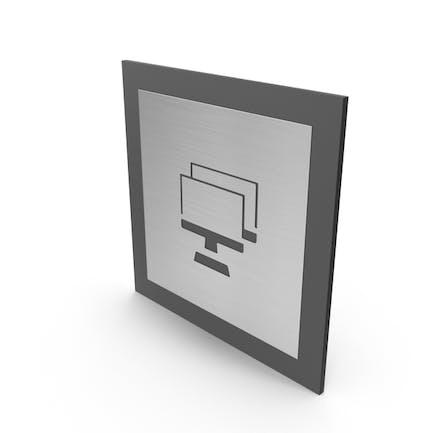 Placa para puerta de habitación con ordenador
