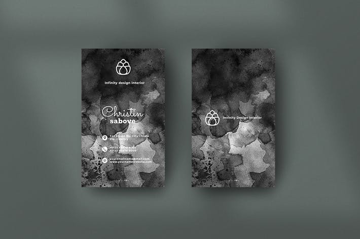 Thumbnail for Vertical Black Business Card. 19