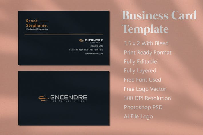 Thumbnail for Black Masculine Business Card