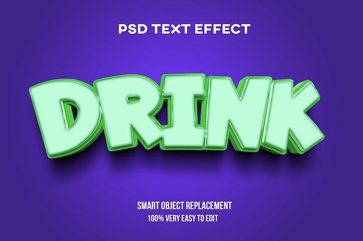Сильный смелый эффект текста напитка