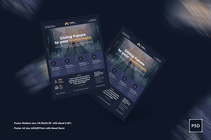 Thumbnail for Business,Corporate Poster PSD Template