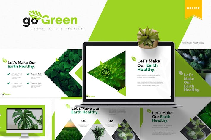 Thumbnail for GoGreen | Google Slides Template