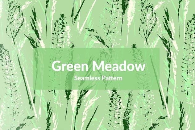Green Meadow Seamless Pattern