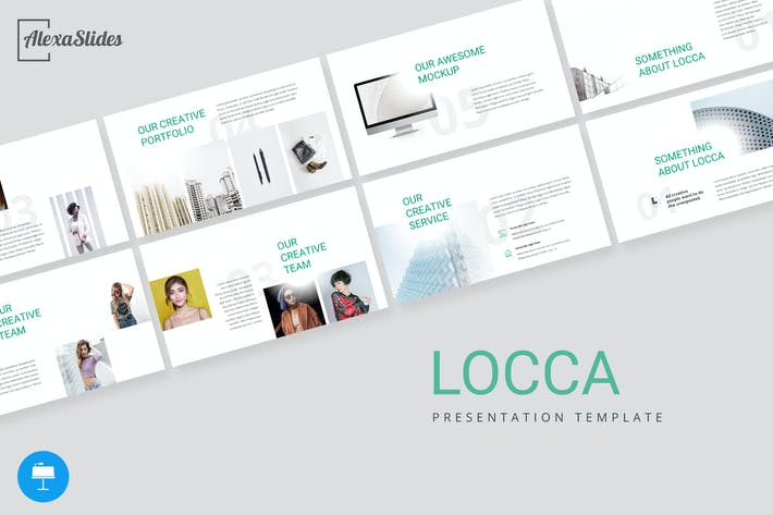 Thumbnail for Locca - Creative Keynote Presentation Template