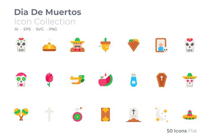 Dia De Muertos Color Icon