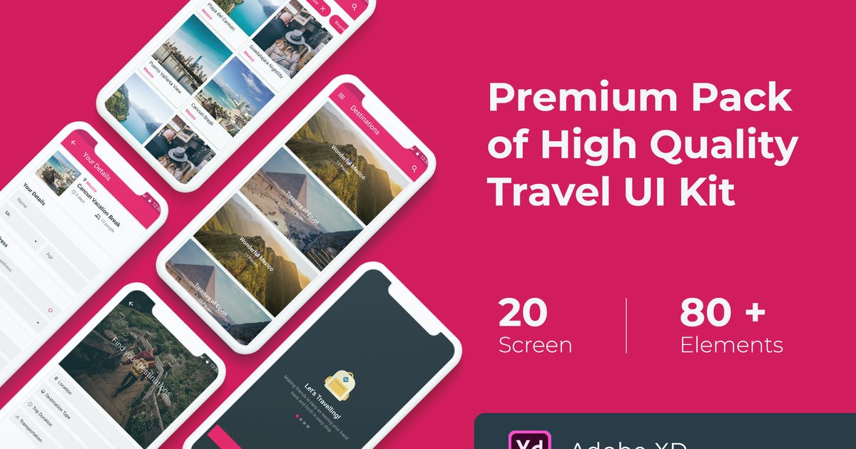 Download Premium Travel UI KIT for XD by WPBootstrap