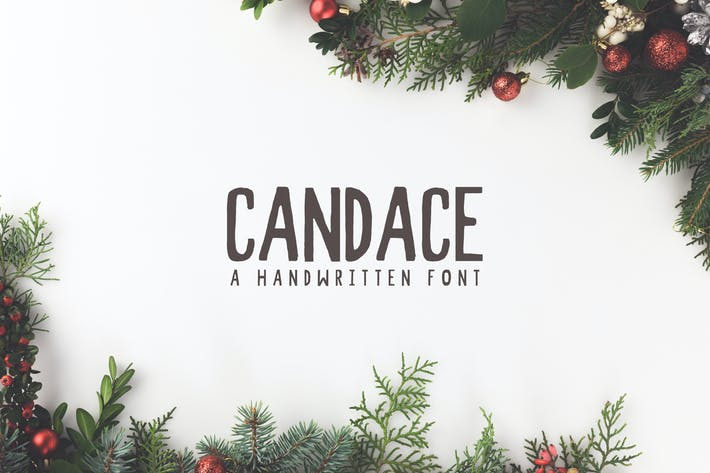 Thumbnail for Candace A Handwritten Font + Bonus