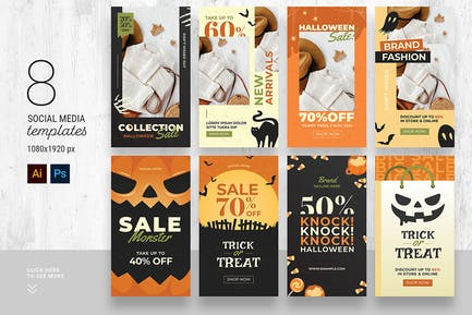 Halloween Social Media Story Templates