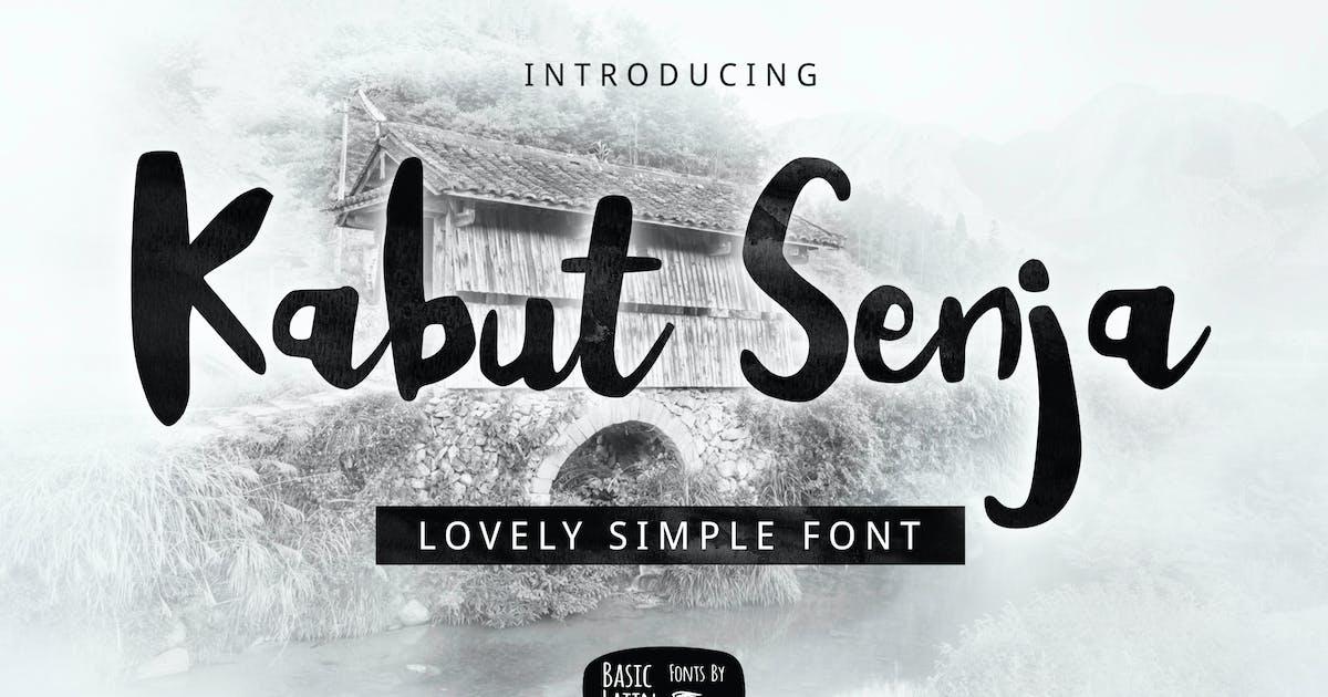 Download Kabut Senja Brush Font by yandidesigns