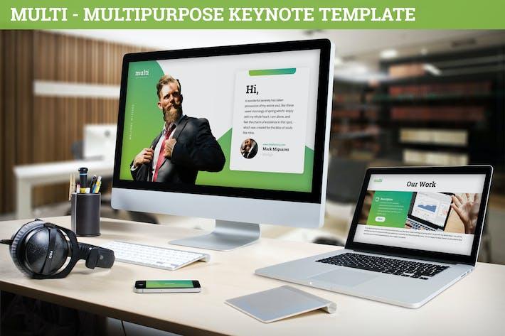 Thumbnail for Multi - Multipurpose Keynote Template