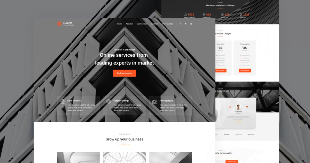 Download Magma - Business Landing Page Template by zytheme