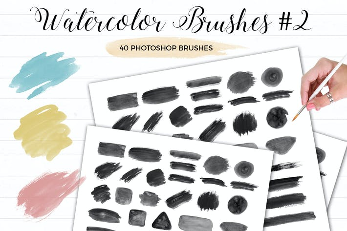 Thumbnail for Watercolor Photoshop Brushes #2