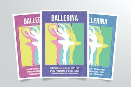 Ballerina Ballet Dance Flyer Template Vol. 2
