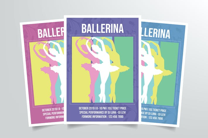 Thumbnail for Ballerina Ballet Dance Flyer Template Vol. 2