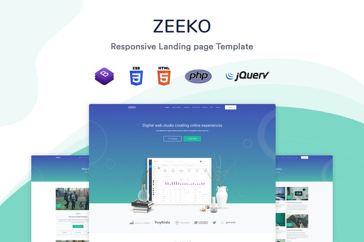 Thumbnail for Zeeko - Landing Page Template