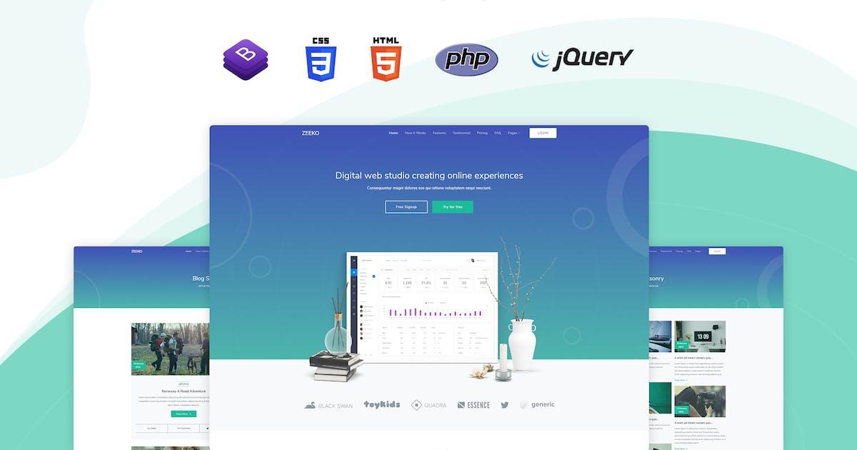 Download Zeeko - Landing Page Template by themesdesign