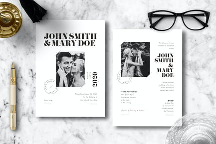 Simple Wedding Invitation 15