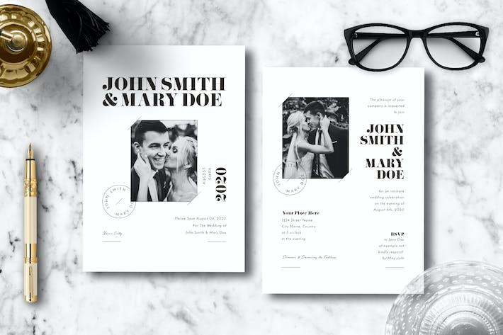Thumbnail for Einfache Hochzeitseinladung 15