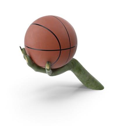 Creature Hand Holding a Basketball Ball