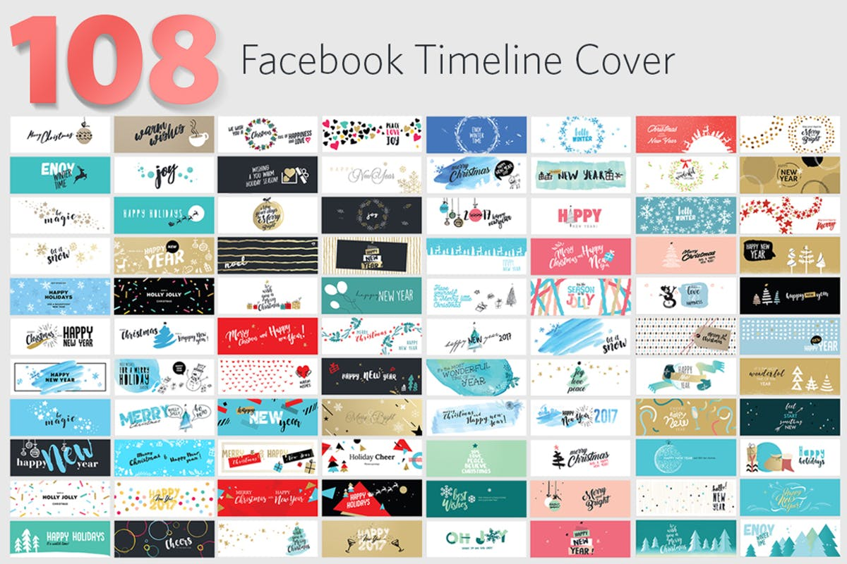 Download Christmas and New Year's Facebook Covers by PureSolution by Unknow