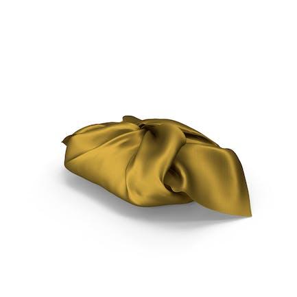 Geschenkidee aus goldfarbenem Stoff
