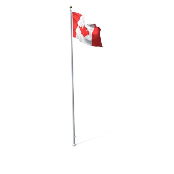 Flag On Pole Canada