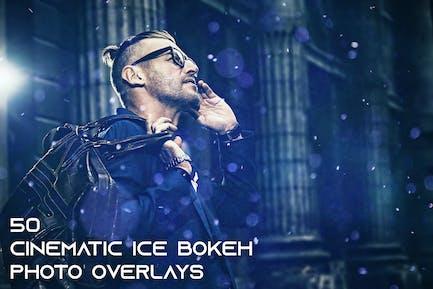 50 Cinematic Ice Bokeh Photo Overlays