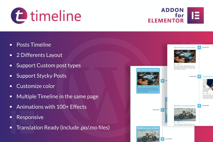 Thumbnail for Timeline for Elementor WordPress Plugin