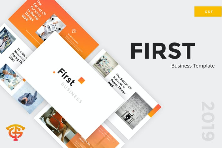 Cover Image For First Business - Google Slides