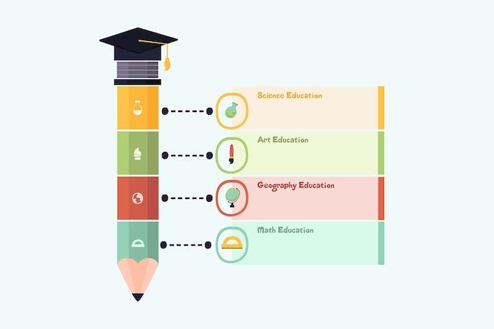Thumbnail for Bildungs-Infografiken Konzept