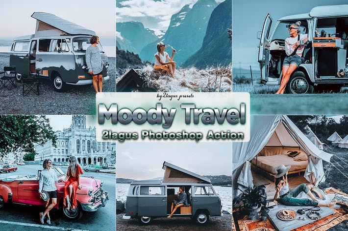 Thumbnail for Moody Travel Photoshop Actions