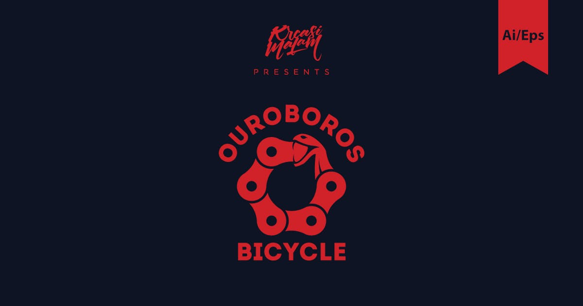 Download Ouroboros Bicycle Logo Template by Ijajil
