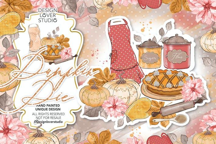 Thumbnail for Diseño de tarta de calabaza.