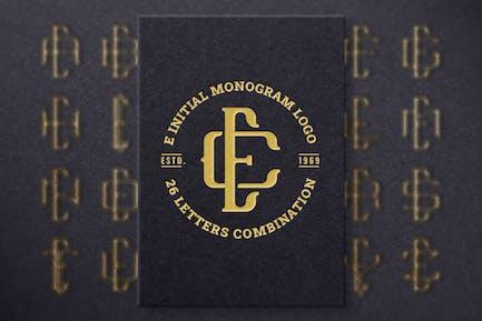 E (A-Z) Monogram Logo Creator Pack