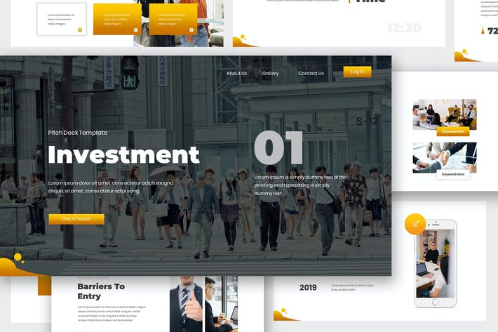 Thumbnail for Investment Pitch Deck Google Slides Template