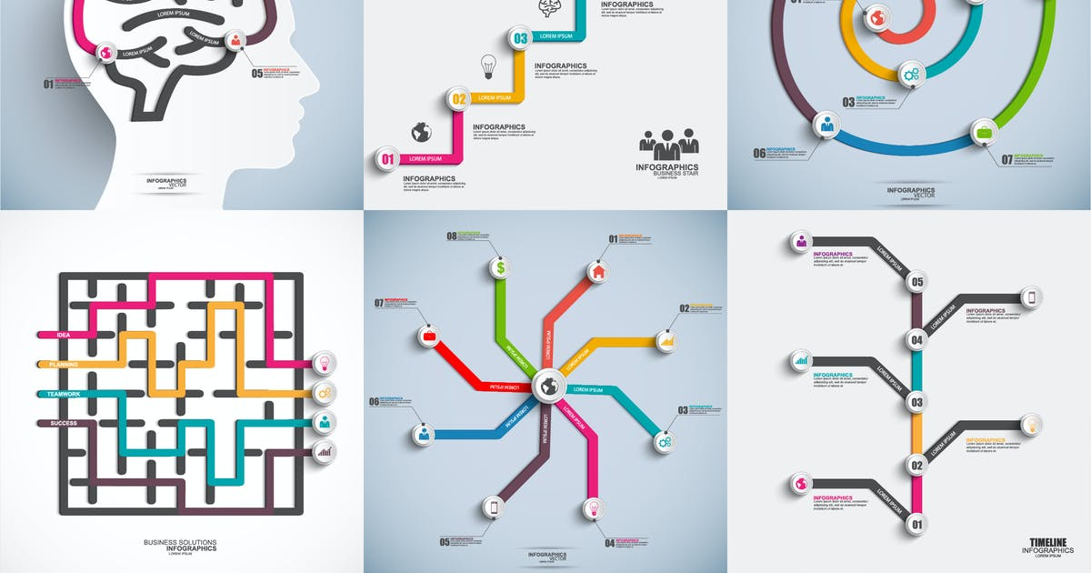 Download Line Infographics by alexdndz