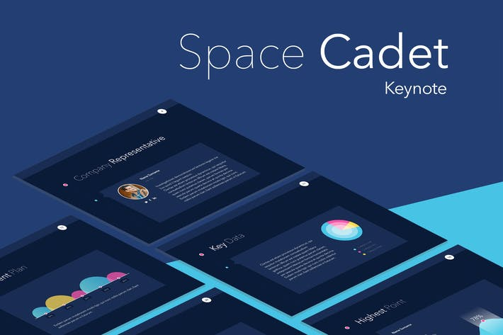 Thumbnail for Space Cadet Keynote Template