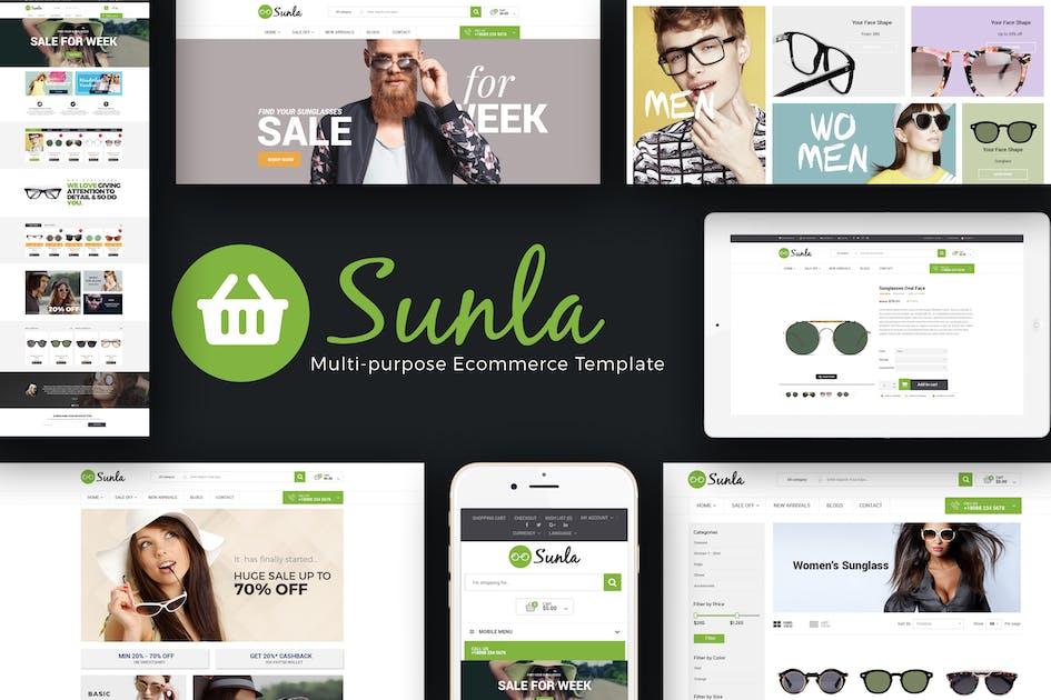 Download Sunla - Sunglasses Responsive Opencart Theme by posthemes