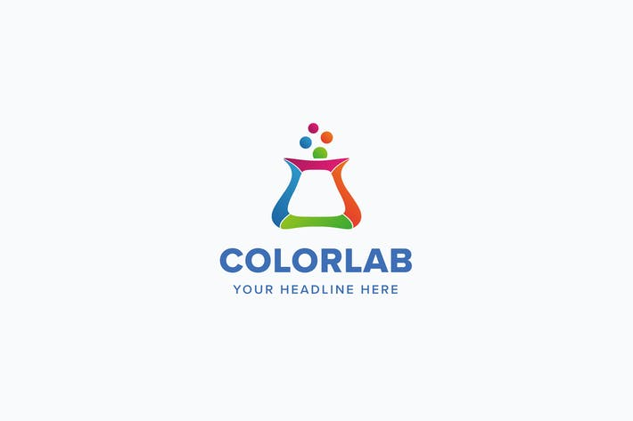 Thumbnail for Color Lab Logo Template