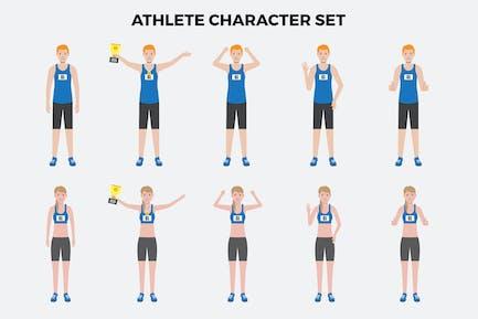 Zeichensatz für Athleten — Illustrationen