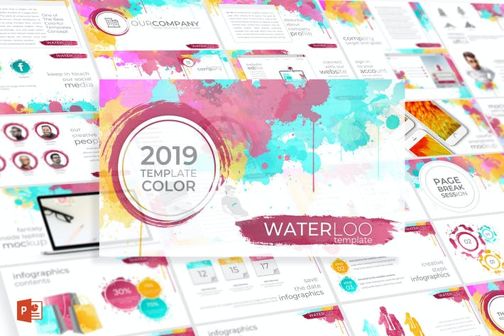 Thumbnail for Waterloo - Powerpoint Template